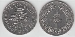 **** LIBAN - LEBANON - 1 LIVRE 1980 CEDRE **** EN ACHAT IMMEDIAT !!! - Liban