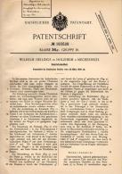 Original Patentschrift - W. Hellings In Holzheim B. Mechernich ,1906 , Sakristei - Möbel , Kirche , Gebet , Euskirchen ! - Möbel