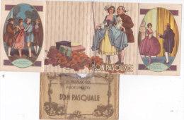 """CALENDARIETTO PROFUMATO CON POCHETTE  """" DON PASQUALE  OPERA BUFFA DI GAETANO DONIZZETTI"""" 1935 -2-0882-17629-628 - Calendriers"""