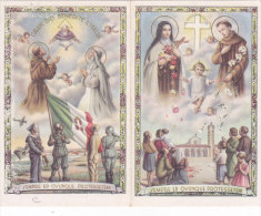 CALENDARIETTO RELIGIOSO SANTA TERESA -SANT'ANTONIO  SAN FRANCESCO- SANTA CATERINA  MILITARI  1943 -2-0882-17631-630 - Calendriers