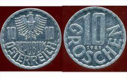 AUTRICHE  10 Groschen 1981 - Autriche