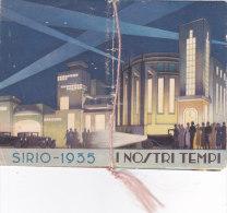 """CALENDARIETTO """"I NOSTRI TEMPI"""" PROFUMATO SIRIO MILANO RADIO  SPORT MODA CINEMA   1935 -2-0882-17637-636 - Small : 1941-60"""