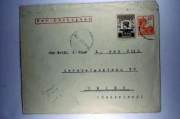 Dutch East Indies Early Airmail Cover  Soerabaja To Zeist 8-10-1929 NVPH 117+LP4