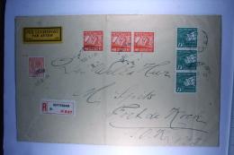 Netherlands,Registerd Airmail Cover Rotterdam To Fort De Rock (RRR), Dutch East Indies, 2 Strips Of Stamps, (B 21e) - Period 1891-1948 (Wilhelmina)