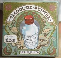BOITE VINTAGE ALCOOL DE MENTHE RICQULES - Autres Collections