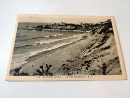 Carte Postale Ancienne : BIARRITZ : La Cote Des Basques En 1938 - Biarritz