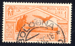 Bimillenario Di Virgilio - 1930 - Posta Aerea - 1 Lira Arancio (Sassone A22) - 1900-44 Victor Emmanuel III