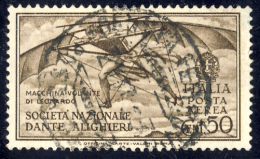 Pro Società Dante Alighieri - 1932 - Posta Aerea - 50 Cent. Bruno (Sassone A26) - 1900-44 Victor Emmanuel III