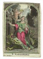 "IMAGE RELIGIEUSE Colorisée, 11,4 X 8,1 Cm, ""S. Margareta"" Ar. Wulans - Images Religieuses"