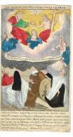 """IMAGE RELIGIEUSE Colorisée, 14,4 X 8,1 Cm, """"Les Saints Protecteurs De La France"""" - Images Religieuses"""