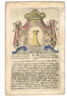 """IMAGE RELIGIEUSE Colorisée, 12,7 X 8,2 Cm, """"Seer Crachtigh Gebedt Voor Eene Fadige Doodt"""" - Devotieprenten"""