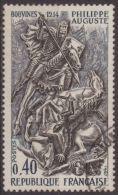 Francia 1967 Scott 1199 Sello º El Rey Felipe II (Felipe Augusto) En La Batalla De Bovinos (Bouvines 1214) 0,40F France - Francia
