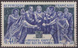 Francia 1967 Scott 1200 Sello º Elección De Hugo Capet Como Rey 0,40F France Stamps Timbre Frankreich Briefmarke - Francia