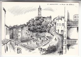 DRAGUIGNAN 83 - Au Temps Des Chevaux : Illustration RARE ( PIZAY : édition Limitée à 600 Exemplaires) CPSM CPM GF - Var - Draguignan