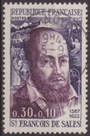 Francia 1967 Scott B406 Sello º Personajes San Francisco De Sales (1567-1622) 0,30+0,10F France Stamps Timbre Frankreich - France