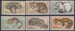 Czechoslovakia 1967 Animals Mi#1731-1736 Mint Hinged