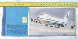 BOEING 747- JUMBO JET - PAN AM , USA  (Serbia Newspaper Clipping) Commercial Airliner & Cargo Transport Aircraft - Kommerzielle Luftfahrt
