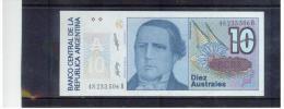 ARGENTINIEN , ARGENTINA   , 10  Australes   ,     Pick #325 B Series B - Argentinien