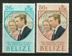 "Belize   ""Princess Anne´s Wedding""    Set   SC# 325-26  MNH** - Belize (1973-...)"