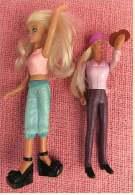 2 Figuren Von McDonald  - Blondinen - Aus Hartgummi - Etwas Biegsam - Arme Beweglich - Action- Und Spielfiguren