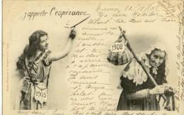 CPA  (BERGERET)    J Apporte L Esperance - Bergeret