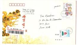 REF LBL9 - CHINE - ENTIER POSTAL ENVELOPPE GRAND FORMAT VOYAGEE - 1949 - ... République Populaire