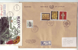 Cyprus Kibris Cipro 1978 FDC 1 Registered Cover 1993 Nicosia To Goeppingen - Cipro