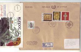 Cyprus Kibris Cipro 1978 FDC 1 Registered Cover 1993 Nicosia To Goeppingen - Non Classificati