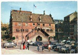 CP, Automobiles ,  67, MULHOUSE, L'Hôtel De Ville (1552), Vierge, Ed : La Cigogne - Passenger Cars