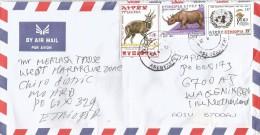 Ethiopia 2013 Asebeteferi A1 Antilope Rhinoceros IDD Desertification Cover - Ethiopië