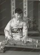 Old Japanese Stringed Instrument, Japones Instrument à Cordes,kimono, Old Photo - Fotos