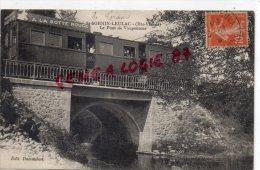87 - SAINT SORNIN LEULAC - ST SORNIN LEULAC - LE PONT DE VAUPOUTOUR - TRAMWAY PUB A LA BOTTE ROUGE LIMOGES - France