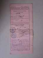 """Biglietto Ferroviario TORINO-MILANO """"Concessione Speciale IX - Compagnie Teatrali Ed Assimilate"""" 1940 - Treni"""