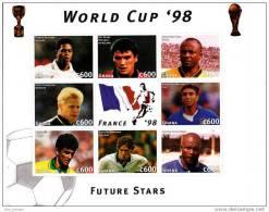 C] Feuillet Sheet ** Ghana Foot Football Soccer Coupe Du Monde World Cup France 98 - Football