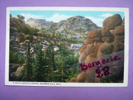 CPA - WYOMING - A SOLID GRANITE CANYON, SHERMAN HILL - TIMBRES - - Etats-Unis