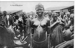 Afrique : Un Marché, Seins Nus, Non Voyagée, Vendue En L´état.. - Afrique Du Sud, Est, Ouest