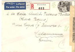 CARTA REGISTERED PIETERLEN 1943 CENSOR  ESCANER - Svizzera
