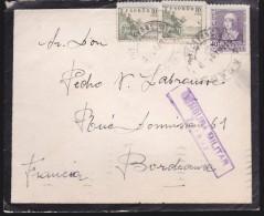 Espagne Censura Militar Zarauz 1939 Pour La France - Marcas De Censura Nacional