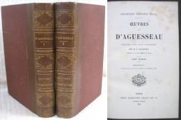 Œuvres D'Aguesseau  Par Falconnet / 2 Tomes En Première Édition Napoléon Chaix De 1865 - Bücher, Zeitschriften, Comics