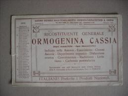 """Carta Assorbente/buvard """"Listino Stabilimento Chimico-Farmaceutico.Rico Stituente Generale ORMOGENINA CASSIA""""1935 - F"""
