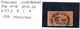 """(15-075) Dt. Reich Mi-Nr. 169 (2x) Bahnpost """"DINGLINGEN-LAHR(BADEN)"""" 1922 Infla - Oblitérés"""
