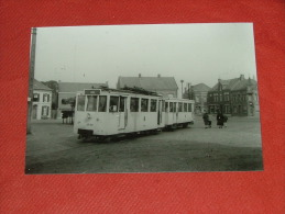 RETIE -  Groote Markt  -  Tram : Lijn Mol  -  Foto 13 X 9 Cm  (1955) - Retie