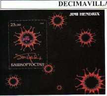 BASH00. JIMI HENDRIX. HOJA-BLOQUE - Objetos Derivados