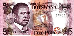 BOTSWANA 5 PULA ND/1982 ***UNC*** P-8b - Botswana