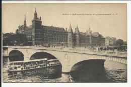 PARIS , Le Palais De Justice Et La Conciergerie , CPA ANIMEE - Frankreich