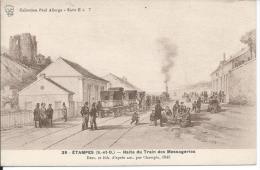 Carte Postale D' Etampes - Halte Du Train Des Messageries - Etampes