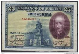 ESPAGNE, SPAIN WPM N°74, 25  PESETAS 1928, Sérial A. ( NB3) - 1-2-5-25 Pesetas