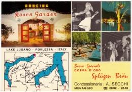 LAKE LUGANO - PORLEZZA - DANCING ROSEN GARDEN - PROGRAMMA 1969 - COMO - Vedi Retro - Como