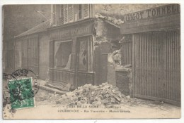 92 - COURBEVOIE - Crue De La Seine - Janvier 1910 - Rue Traversière - Maison écroulée - ELD - Courbevoie