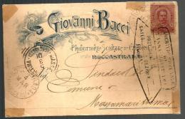 1901  GIOVANNI BACCI Roccastrada Grosseto Cartolina Pubblicitaria - Pubblicitari